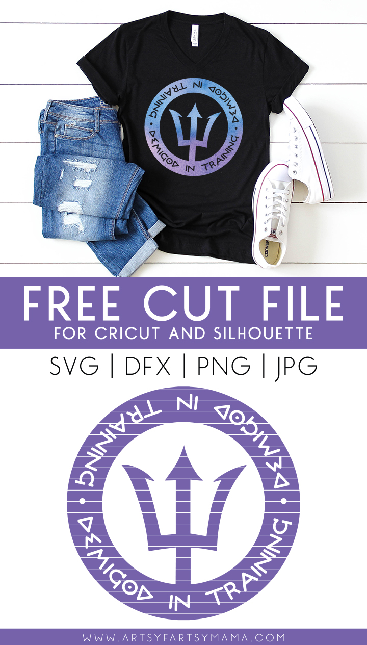 Percy Jackson Demigod Free Cut File