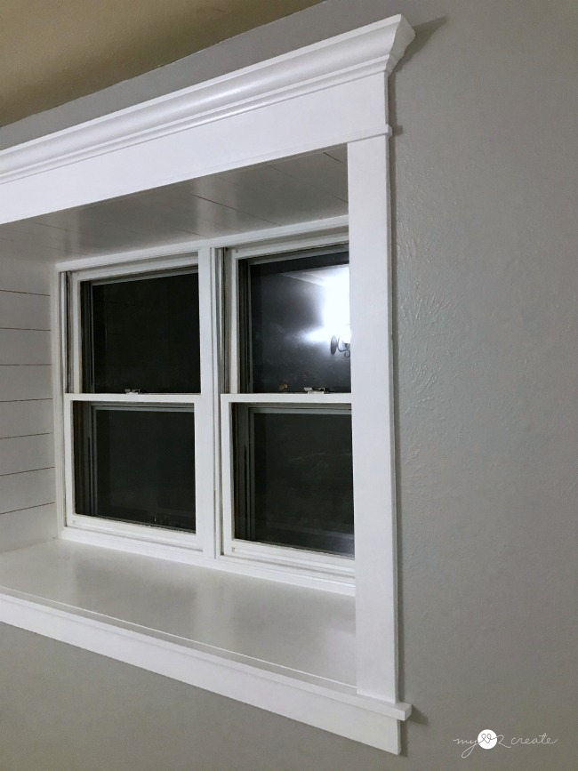 Finished trimmed out window