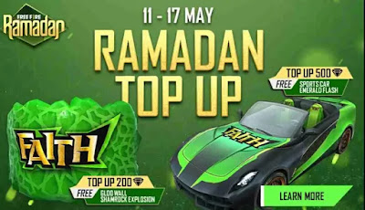 Ramadan Top-up Redeem Code For Free in Free Fire
