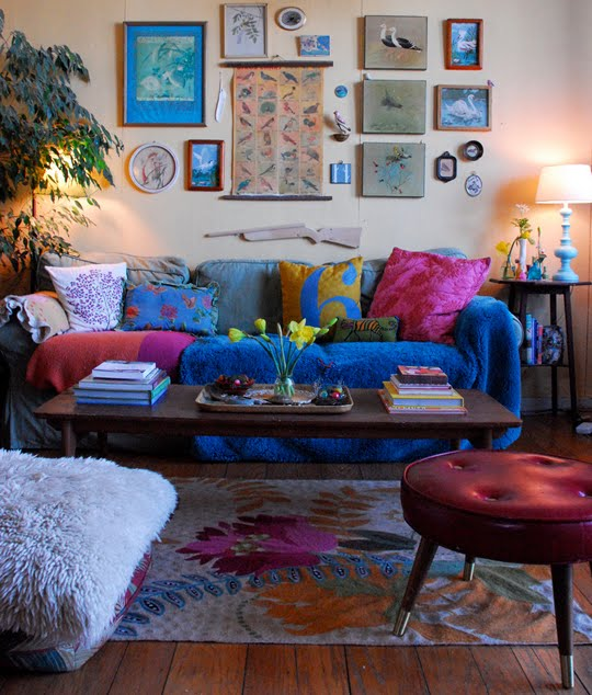 The centric home sofa bohemian style - Jewel tone living room ...