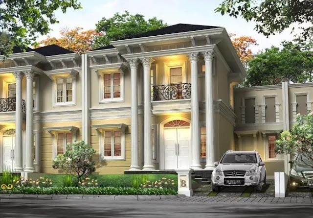 Jenis Atau Model Desain Rumah Minimalis - Menggunakan Desain Gaya Eropa