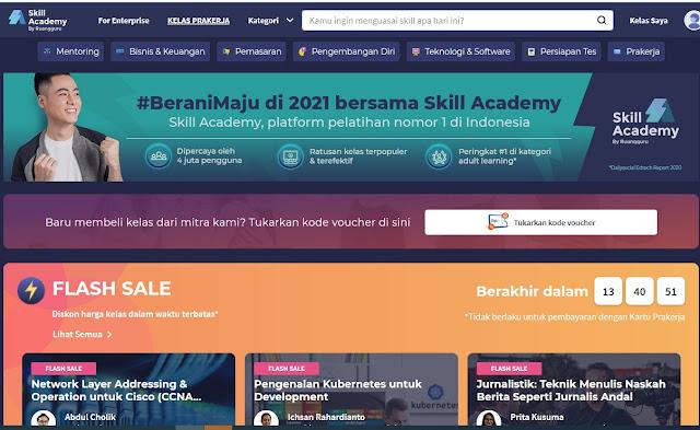Cara Daftar Pelatihan Online di Skill Academy