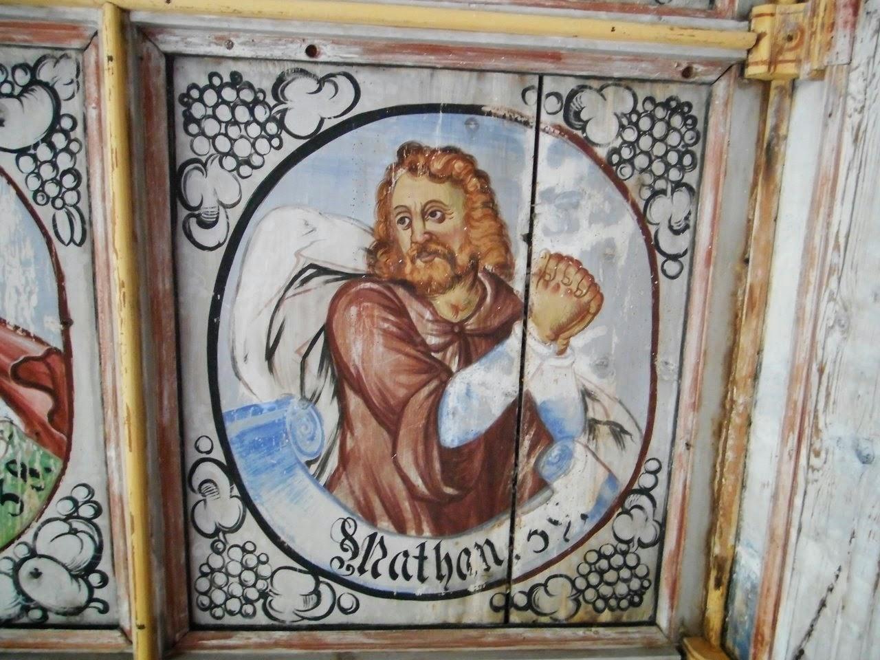 dawne malowidło sufitowe, sztuka sakralna, kościół w Świeciu