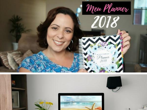 Meu planner 2018 + calendários wallpaper de janeiro para desktop