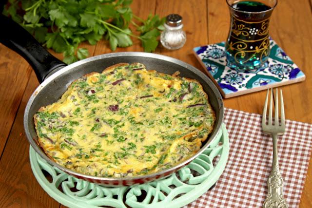 Omlet arabski, omlet, pomysł na śniadanie, co na śniadanie,