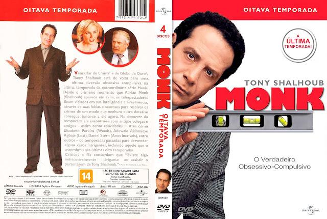 Capa DVD Monk: Um Detetive Diferente - Oitava Temporada [Custom]