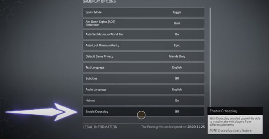 This is what the setting looks like in the ingame settings.