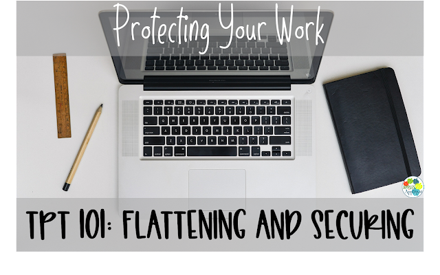 Selling on TPT 101: Flattening and Securing Your Work | Apples to Applique