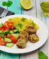 Falafels With Mediterranean Couscous Salad - Keto Vegan Recipe