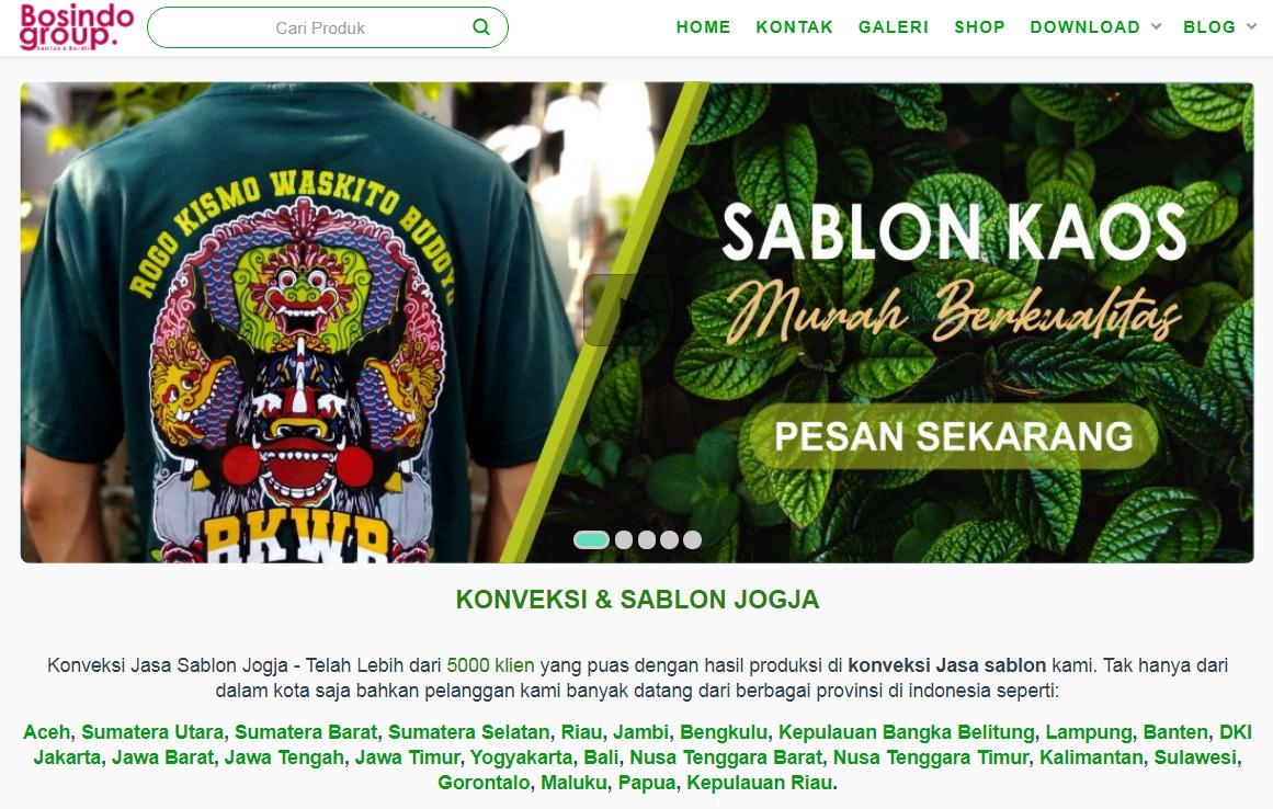 Info - Konveksi Jasa Sablon Jogja Terbaru