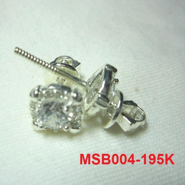 Bông tai đính đá trắng cao cấp MS-B004- Giá: 195,000 VNĐ - Liên hệ mua hàng: 0906 846366(Mr.Giang)