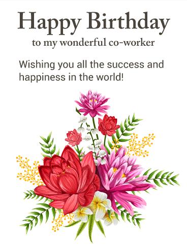 Birthday Congratulations to a Colleague