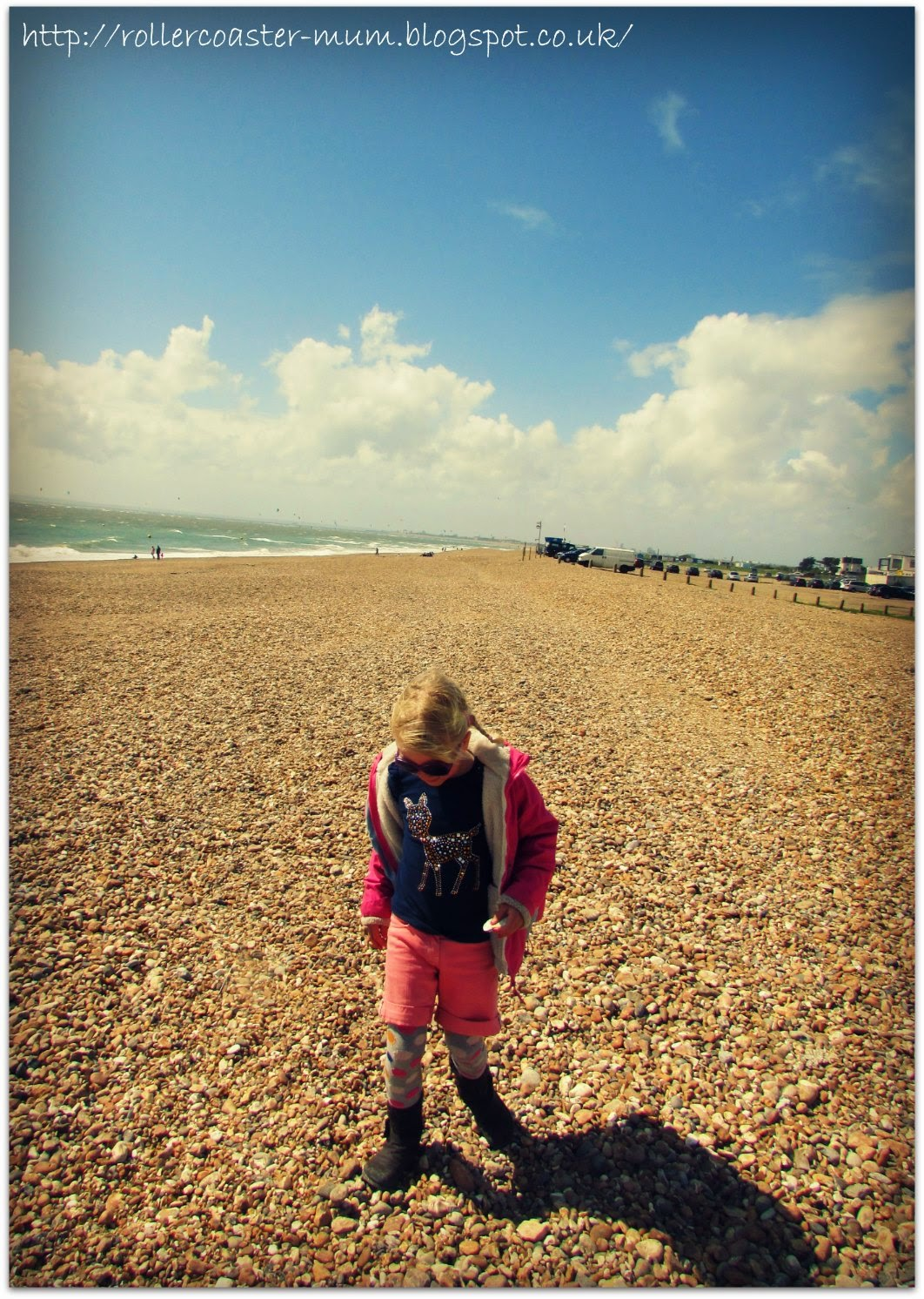 treasure hunting on Hayling Island beach