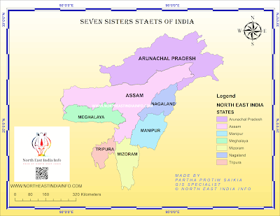 Seven Sisters States Map