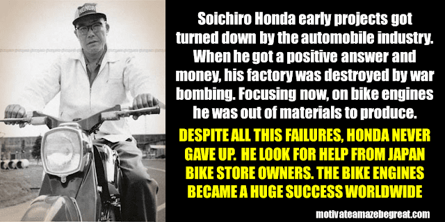 Success Stories From Famous People Who Failed Before Succeeding: Soichiro Honda