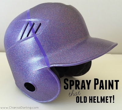 last year i spray painted vance 39 s old batting helmet for vaughn to. Black Bedroom Furniture Sets. Home Design Ideas