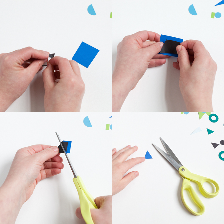 step by step scissors magnet paper how to instructions