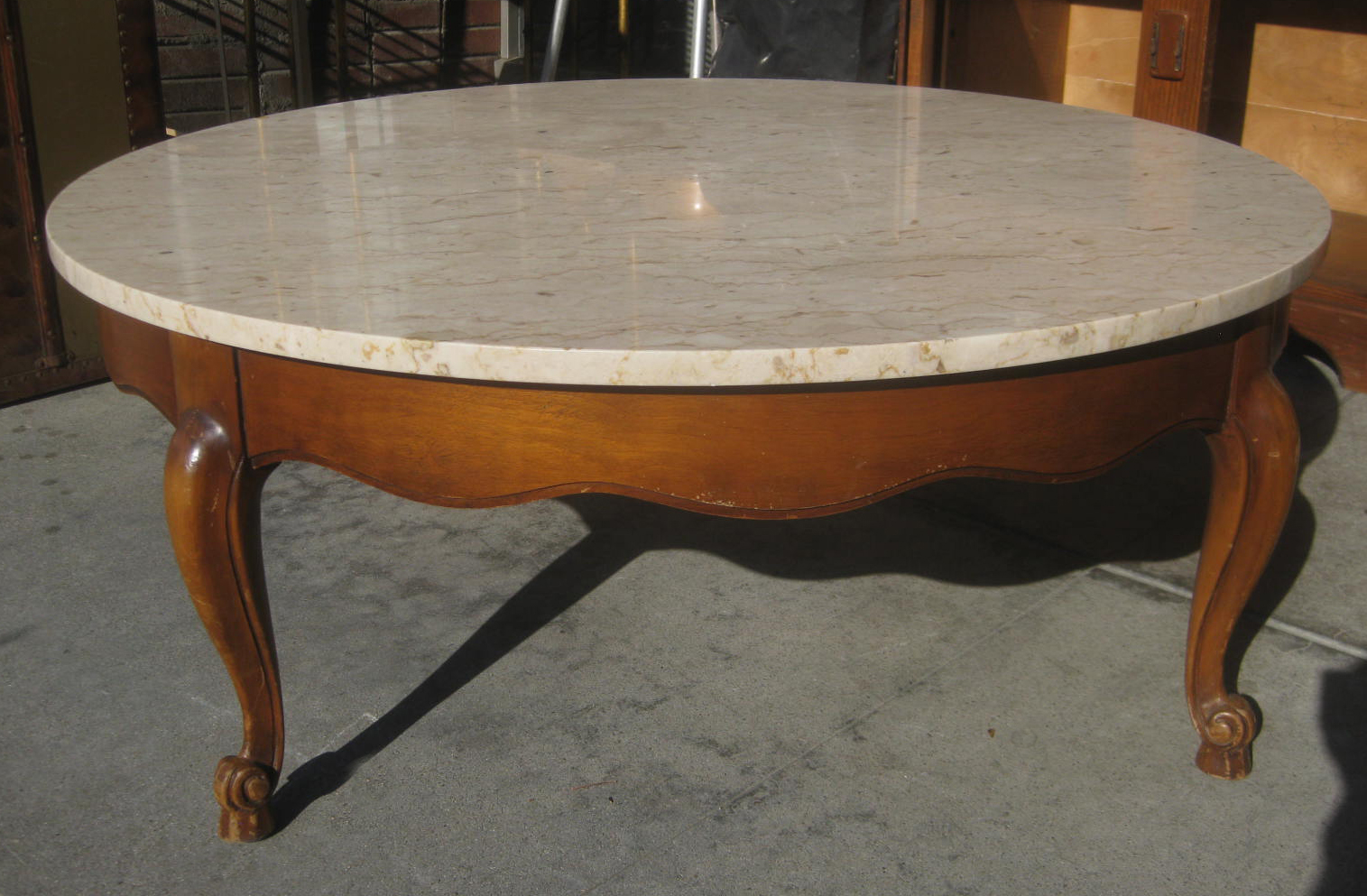 Sold Italian Marble Coffee Table 70