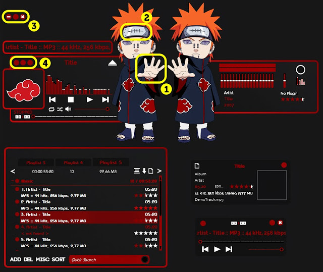 Download Skin Aimp Akatsuki Pain Tendo