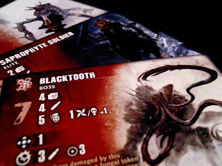 An arrangement of monster cards from Fireteam Zero: The Europe Cycle.