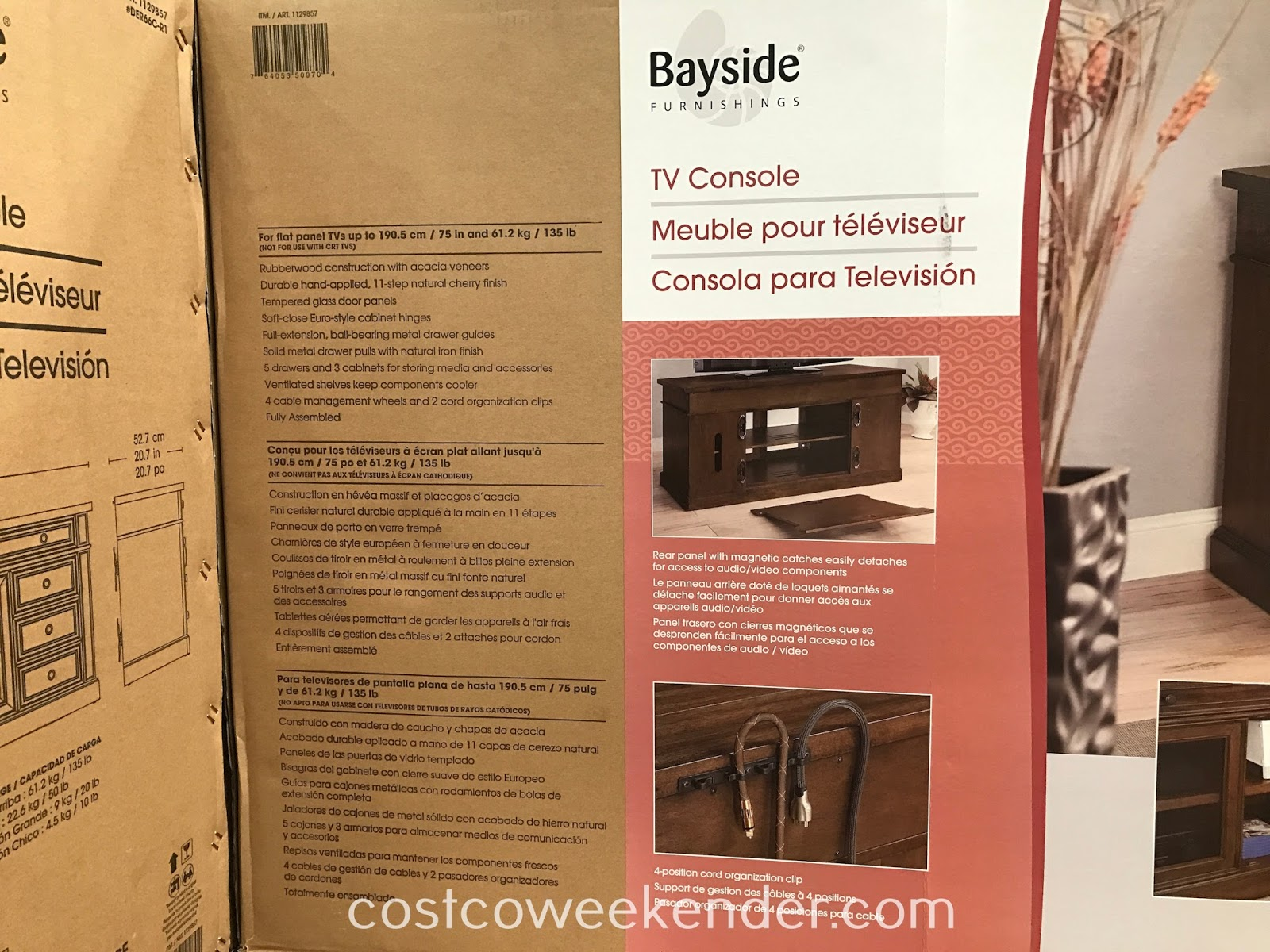 Bayside Furnishings TV Console: great for any living area in your home