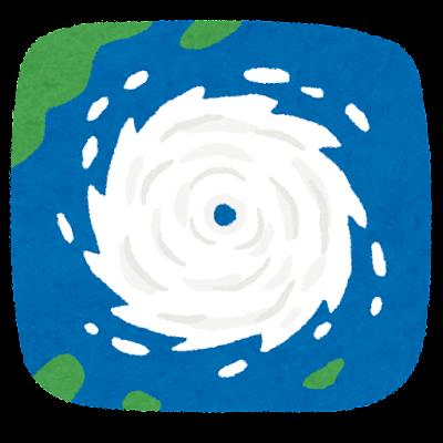 上から見た台風のイラスト