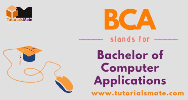 BCA Full Form
