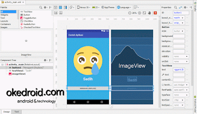 Contoh tab design layout xml android studio