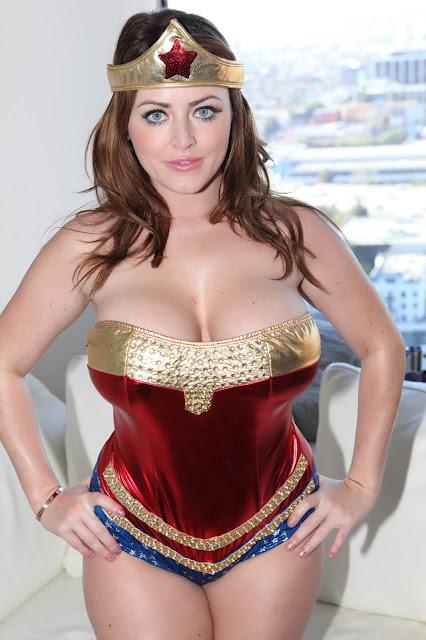 Sophie Dee sexy wonder woman pose
