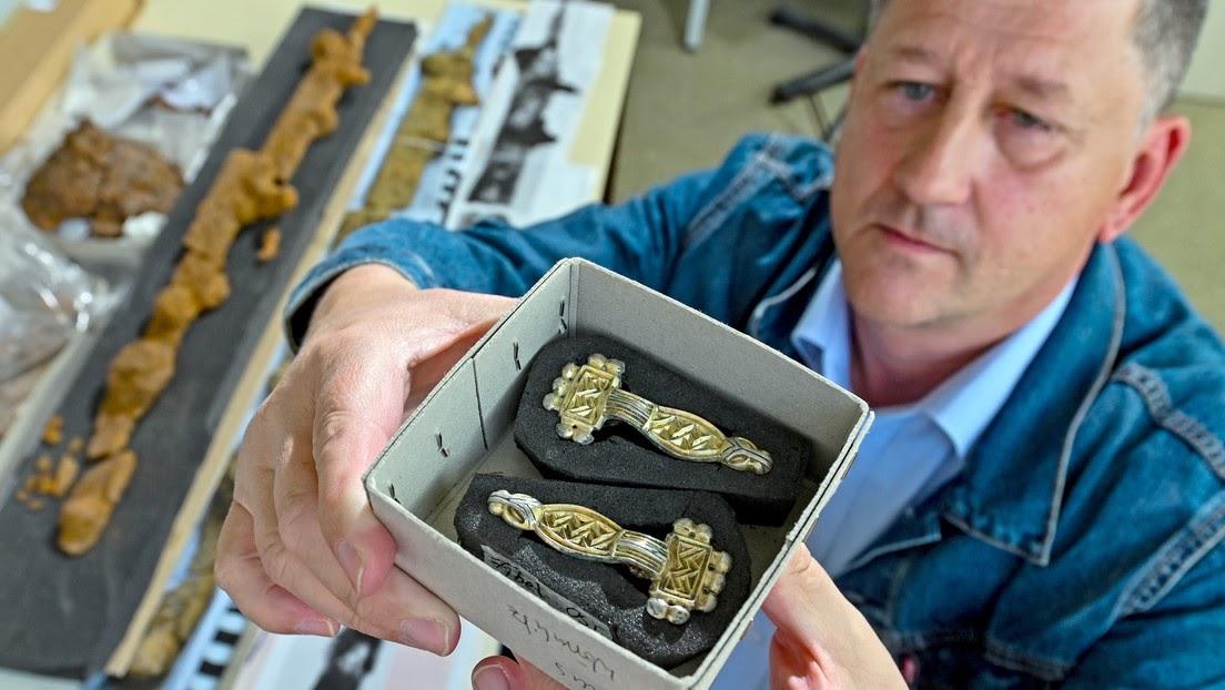 Descubren en Alemania la tumba intacta de un noble enterrado con seis mujeres hace 1500 años
