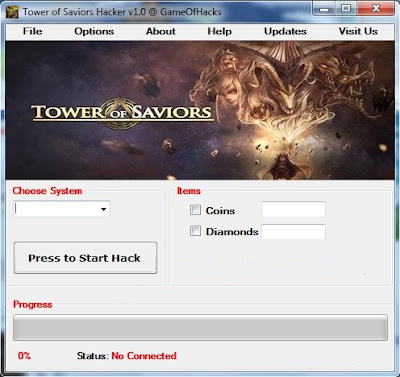 THIS IS TOWER OF SAVIORS HACK CHEATS TRAINER TOOL 2013 SCREENSHOT