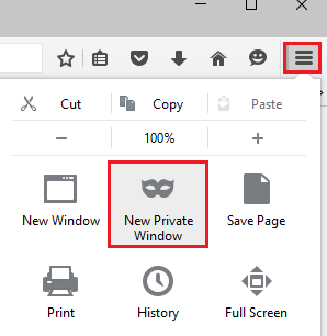 Incognito Mode In Firefox