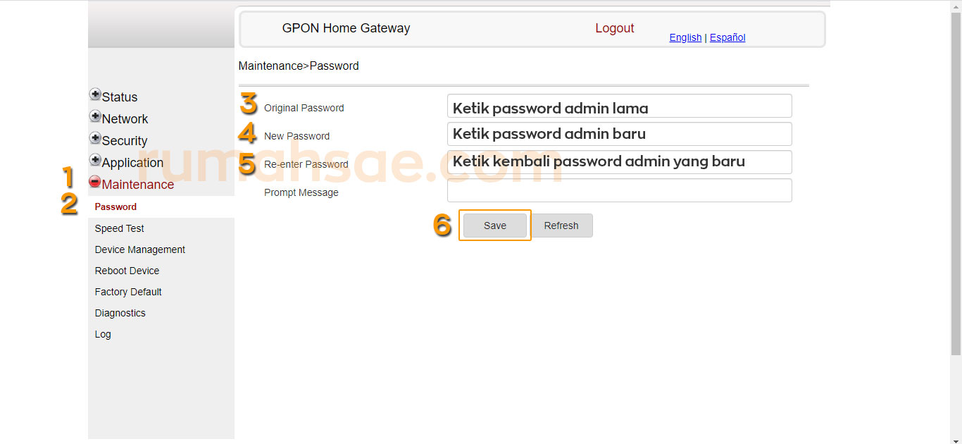 Cara Mengganti Password Login Admin dan Password WiFi IndiHome