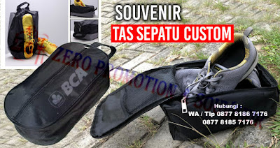 Tas Sepatu Promosi, Souvenir Tas Sepatu Custom, shoes bag