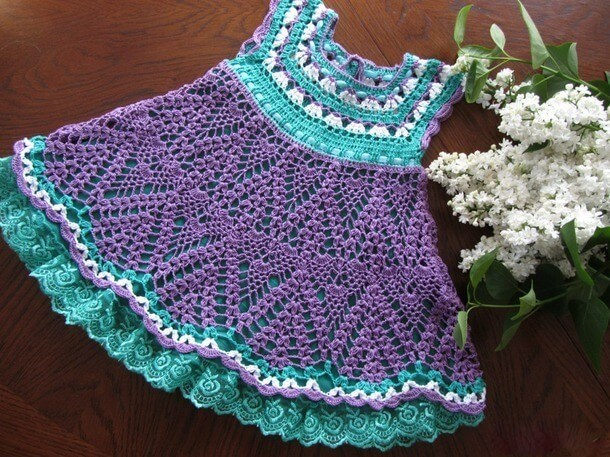 Crochet Dress Yarn With Easy Step By Step Video Tutorial Learn