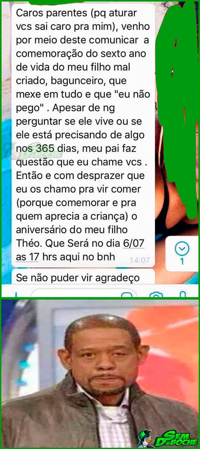 TODO AMOR QUE EXISTE NOS GRUPOS DE FAMÍLIA NO WHATSAPP