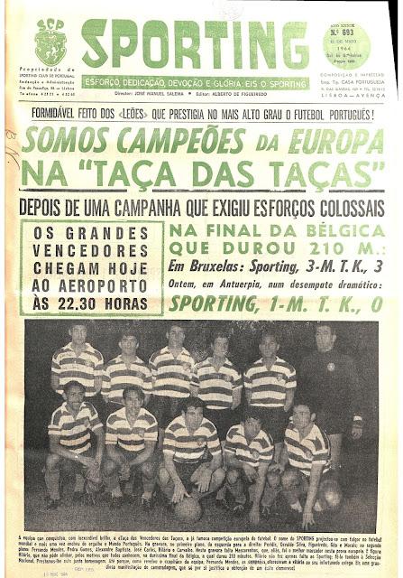 Jornal Sporting Taça das Taças 1963-64