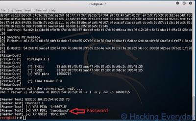 REAVER : Hack Wifi WPA2-PSK dengan Linux password wpa