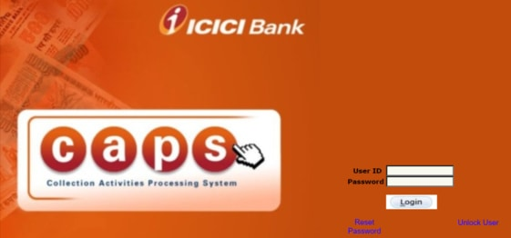 ICICI Bank Caps Login