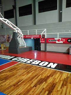 Pemasangan Lantai kayu di Gedung olahraga GMC Arena Cirebon