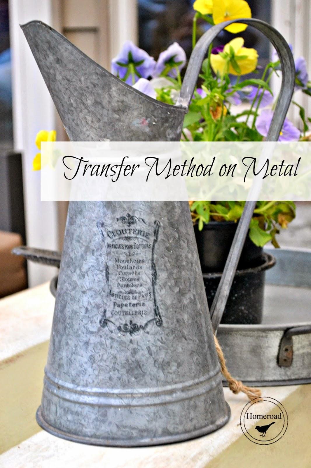 transfer method on galvanized steel www.homeroad.net