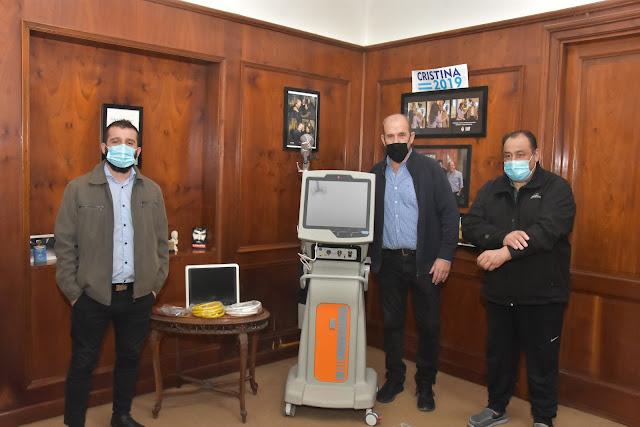 Pablo Javier Zurro recibió un nuevo respirador que se suma al hospital municipal