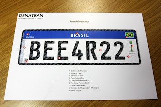 Placas de veículos - Brasil