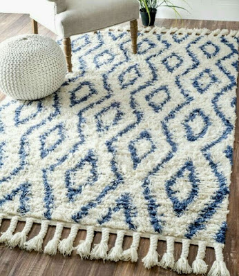 Fascinating living room rugs ideas with Savanna Morrocan diamond shag blue rug