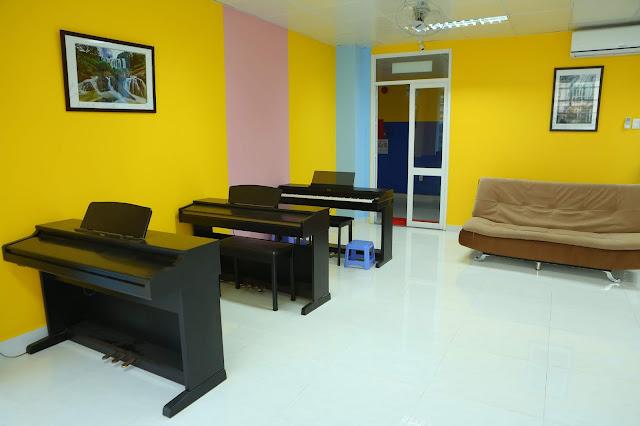 Phòng học nhạc cụ - Trường nhạc SMS quận 2 - Cơ sở 3