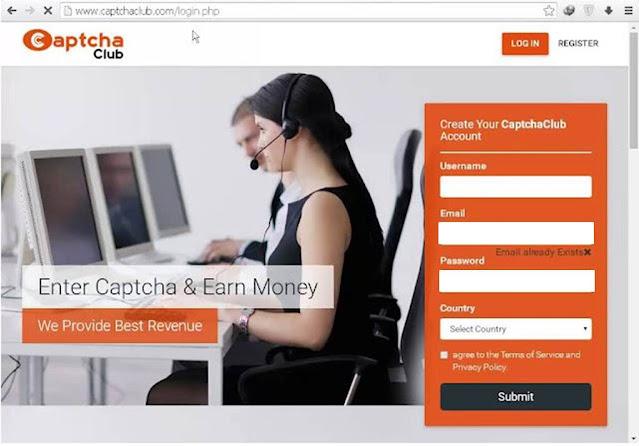 Captcha club.com website review : captcha club is legit or not