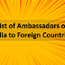 List of Ambassadors and High Commissioners of India to Foreign Countries