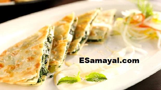 ஸ்பினாச் அண்ட் ஃபெடா க்ரீப்ஸ் ரெசிபி | Spinach and Feta Crepes Recipe !