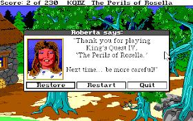Huevo de Pascua Roberta Williams - Kings Quest IV